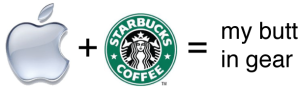apple logo starbucks logo