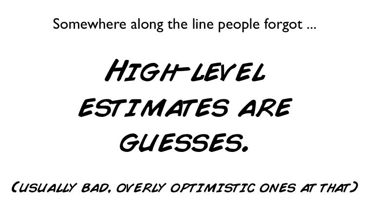 agile estimates are guesses
