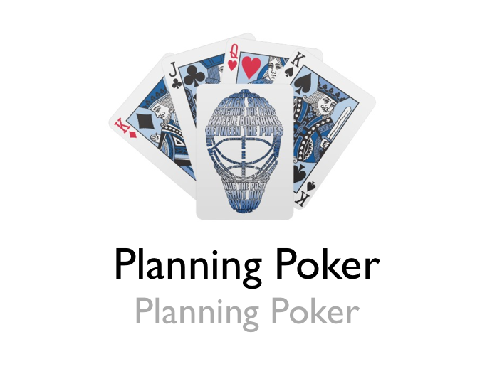 agile estimation - planning poker