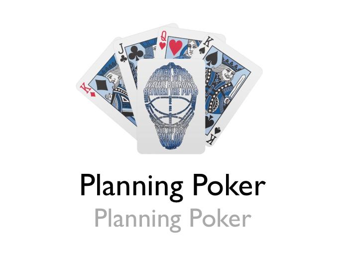 agile estimation - planning poker