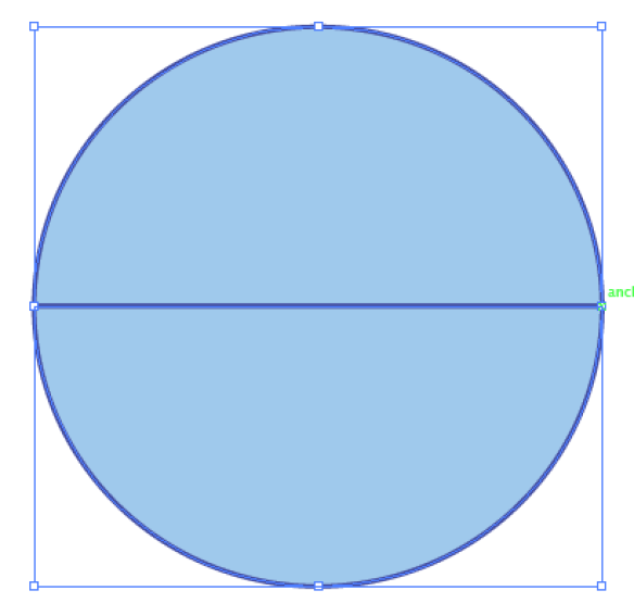 How to cut a circle in half with illustrator | The Agile Warrior