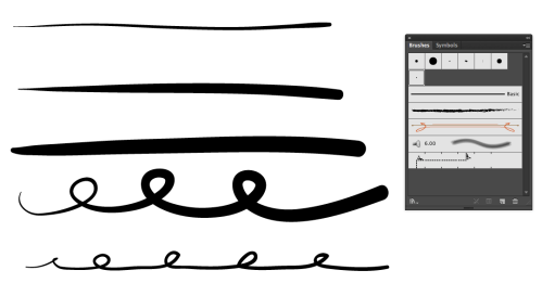 Drawing Lines With Adobe Illustrator : Wacom bamboo tablet pressure brush adobe illustrator the