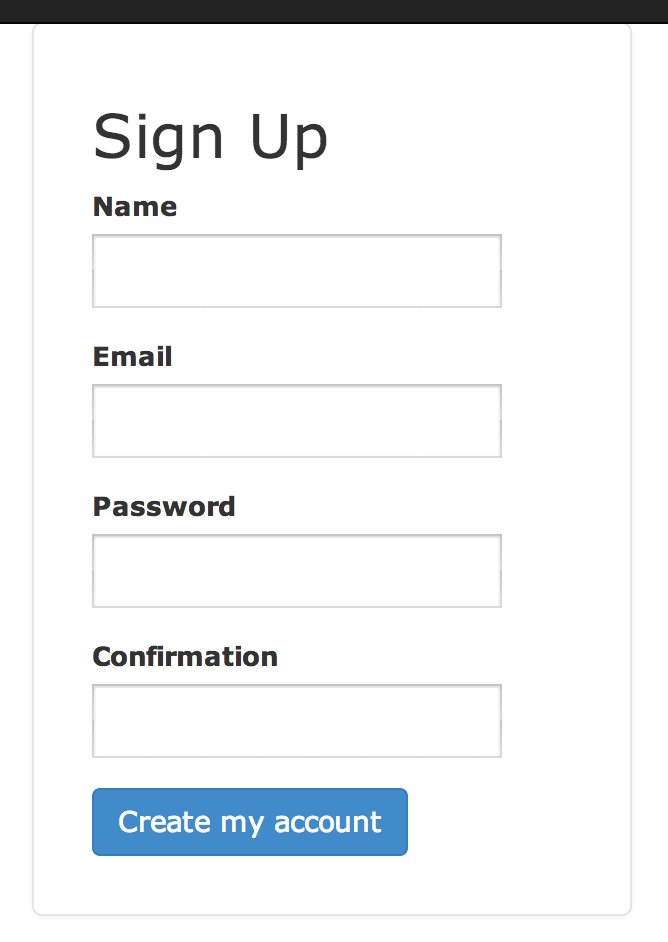how to create rails signup page the agile warriorSign Up #4