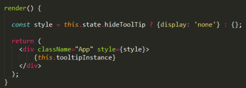How to hide elements the reactjs way | The Agile Warrior