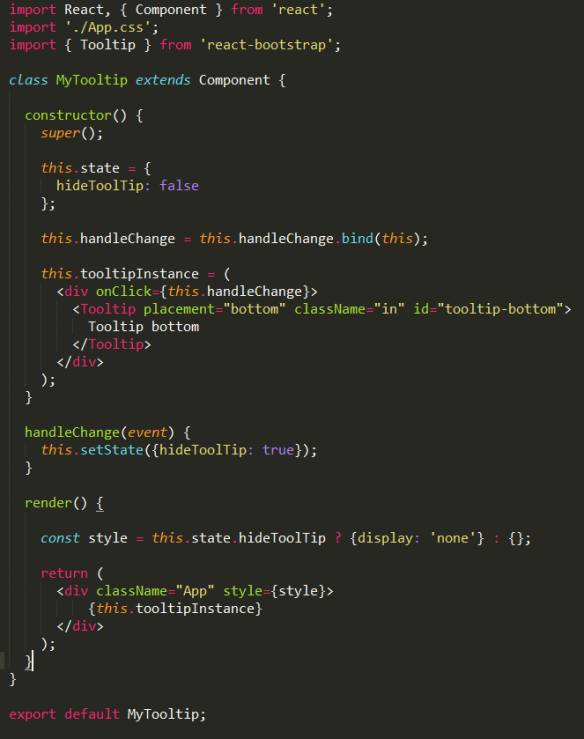 How to hide elements the reactjs way   The Agile Warrior